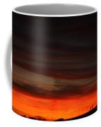 Burning Night Time Sky Coffee Mug by John Telfer