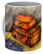 Business Man - Packed Suitcases Coffee Mug by Mike Savad