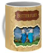 Butterflies Button Coffee Mug by Mike Savad