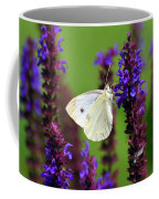 Cabbage White Butterfly Coffee Mug by Christina Rollo