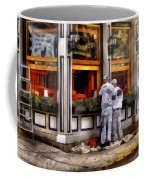 Cafe - The Painters Coffee Mug by Mike Savad