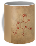 Caffeine Molecule Coffee Fanatic Humor Art Poster Coffee Mug by Design Turnpike