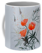 California Poppies Sumi-e Coffee Mug by Beverley Harper Tinsley