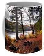 Campsite On Cary Lake Coffee Mug by David Patterson