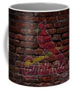Cardinals Baseball Graffiti On Brick  Coffee Mug by Movie Poster Prints
