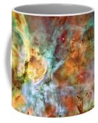 Carina Nebula - Interpretation 1 Coffee Mug by The  Vault - Jennifer Rondinelli Reilly