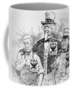 Cartoon Depicting The Impact Of Franklin D Roosevelt  Coffee Mug by American School