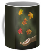 Catching Leaves Coffee Mug by Amanda Elwell