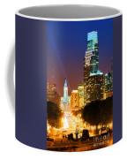 Center City Philadelphia Night Coffee Mug by Olivier Le Queinec