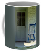 Chair On Farmhouse Porch Coffee Mug by Olivier Le Queinec