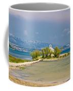 Chapel On Small Island In Posedarje Coffee Mug by Brch Photography