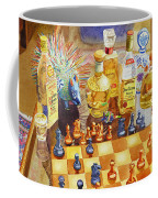 Chess And Tequila Coffee Mug by Mary Helmreich