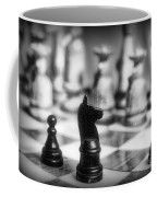 Chess Game In Black And White Coffee Mug by Paul Ward