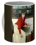 Chica In A Bar Coffee Mug by Ramon Casas i Carbo