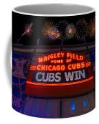 Chicago Cubs Win Fireworks Night Coffee Mug by Steve Gadomski