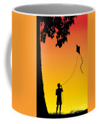 Childhood Dreams 1 The Kite Coffee Mug by John Edwards