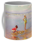 Children On The Beach Coffee Mug by Charles-Garabed Atamian