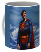 Christopher Reeve As Superman Coffee Mug by Paul Meijering