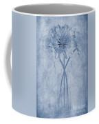 Chrysanthemum Cyanotype Coffee Mug by John Edwards