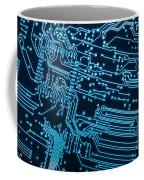 Circuit Board Coffee Mug by Carlos Caetano