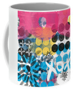 Circus - Contemporary Abstract Art Coffee Mug by Linda Woods