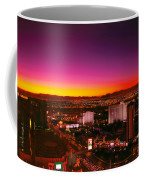 City - Vegas - Ny - Sunrise Over The City Coffee Mug by Mike Savad