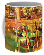 City - Vegas - Venetian - The Venetian At Night Coffee Mug by Mike Savad