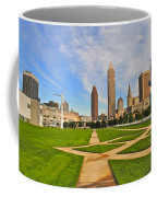 Cleveland Skyline Coffee Mug by Frozen in Time Fine Art Photography