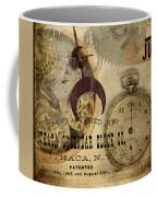 Clockworks Coffee Mug by Fran Riley