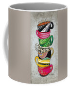 Colorful Coffee Cups Mugs Hot Cuppa Stacked II By Romi And Megan Coffee Mug by Megan Duncanson
