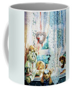 Come Out And Play Teddy Coffee Mug by Hanne Lore Koehler