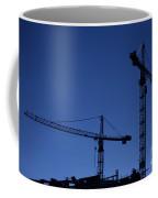 Construction Cranes At Dusk Coffee Mug by Antony McAulay