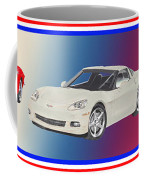 Corvettes In Red White And True Blue Coffee Mug by Jack Pumphrey