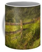 Country - Fence - County Border  Coffee Mug by Mike Savad