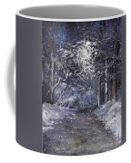 Country Road On A Wintery Night Coffee Mug by Jack Skinner