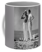 Couple On The Maine Shore Coffee Mug by Underwood Archives