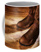 Cowboy Boots On Saloon Floor Coffee Mug by Olivier Le Queinec