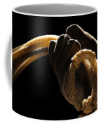 Cowboy Hand Holding Lasso Coffee Mug by Olivier Le Queinec