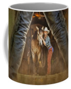 Cowgirl And Cowboy Coffee Mug by Susan Candelario