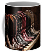 Cowgirl Boots Collection Coffee Mug by Olivier Le Queinec