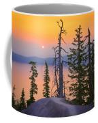 Crater Lake Trees Coffee Mug by Inge Johnsson