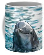 Curious Dolphin Coffee Mug by Mariola Bitner