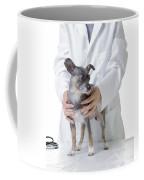 Cute Little Dog At The Vet Coffee Mug by Edward Fielding