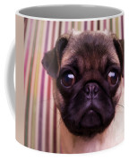Cute Pug Puppy Coffee Mug by Edward Fielding