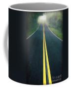 Dark Foggy Country Road Coffee Mug by Edward Fielding