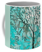 Decorative Abstract Floral Birds Landscape Painting Bird Haven I By Megan Duncanson Coffee Mug by Megan Duncanson