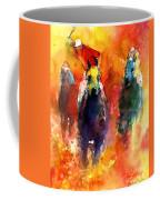 Derby Horse Race Racing Coffee Mug by Svetlana Novikova