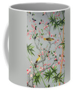 Detail Of The 18th Century Wallpaper In The Drawing Room Photograph Coffee Mug by John Bethell
