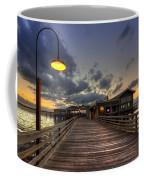 Dock Lights At Jekyll Island Coffee Mug by Debra and Dave Vanderlaan