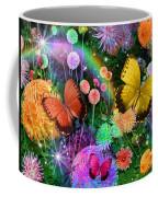 Double Dahlia Flower Party Coffee Mug by Alixandra Mullins